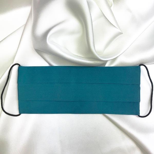 Mascarilla homologada de seda pintada a mano azul petróleo hombre