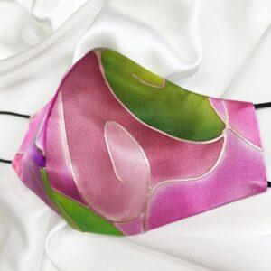 Mascarilla homologada de seda pintada a mano Kandinsky