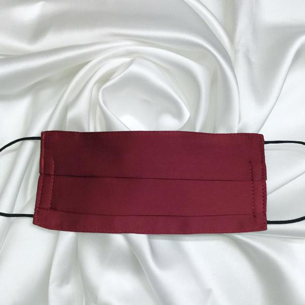 Mascarilla de seda pintada a mano lisa granate unisex