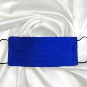 Mascarilla de seda pintada a mano lisa azul eléctrico unisex